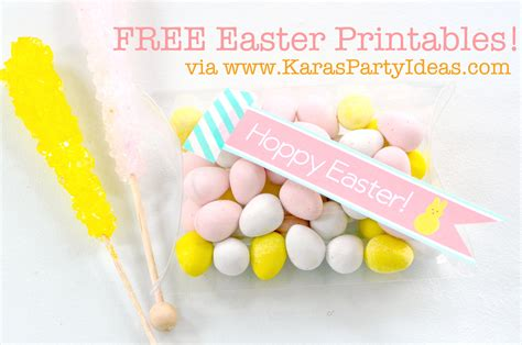 karas party ideas  printable hoppy easter tags