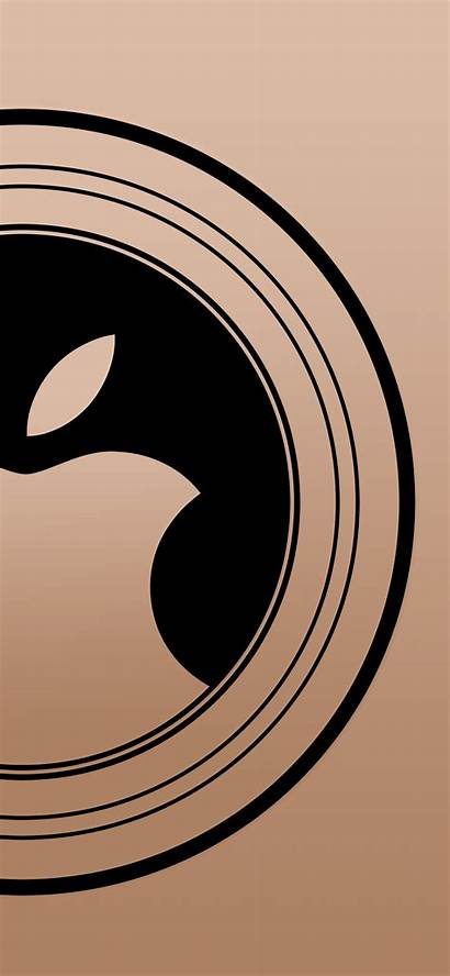 Iphone Wallpapers Apple Gold Event Round Xs