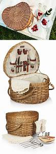 heart shaped willow picnic basket by picnic time With wedding gift picnic basket
