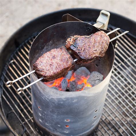 cooking with charcoal ultimate charcoal grilled steaks cook s illustrated