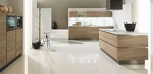 cuisine blanche contemporaine fashion designs With cuisine blanche et bois clair