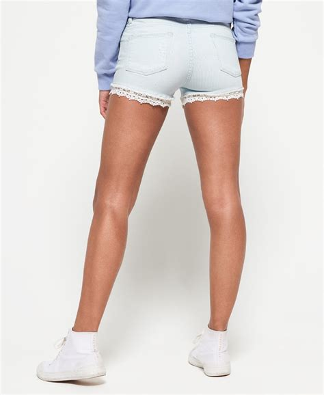 shorts mit spitze superdry jeansshorts mit spitze damen shorts