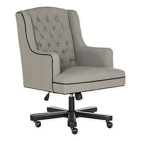 bed bath and beyond desk chair safavieh nicholas adjustable swivel desk chair in black