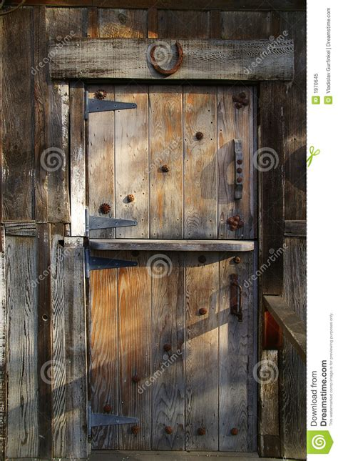 rustic wooden barn door stock image image  home metal
