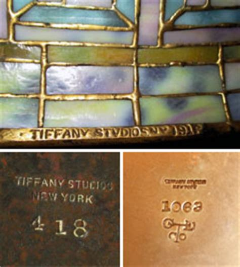 Tiffany Reproduction Lamp Bases by Genuine Tiffany Lamps Authentic Amp Genuine Tiffany Lamp Marks