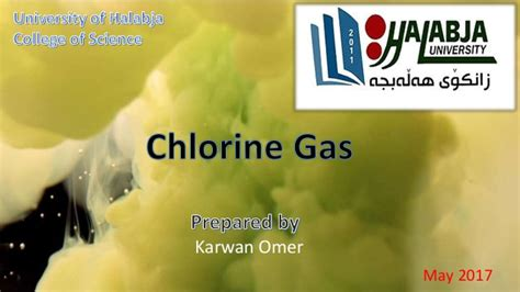 color of chlorine chlorine gas