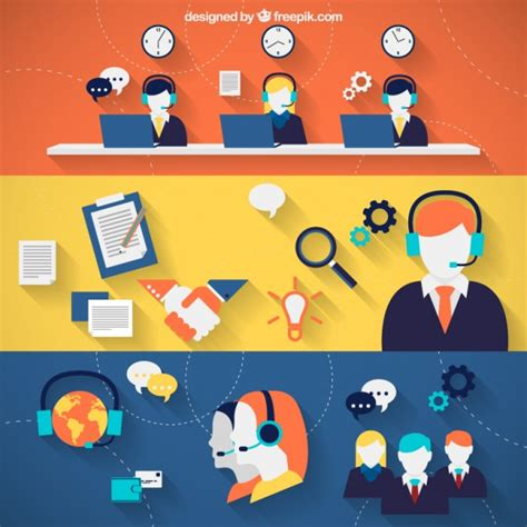 call center vectors photos and psd files free