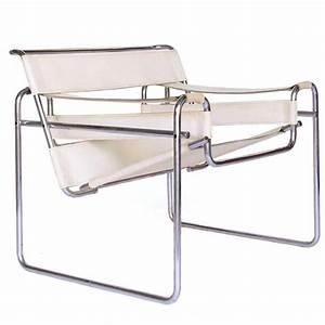 Wassily Kandinsky Chair : 1925 marcel breuer white leather vintage wassily chair for sale at 1stdibs ~ Markanthonyermac.com Haus und Dekorationen