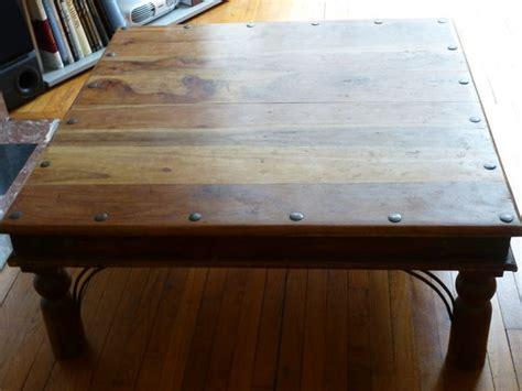 table cuisine bois exotique plateau bois 40cm porte clasf
