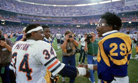 eric dickerson     los angeles rams sideline