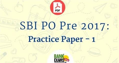 Sbi Po Pre 2017 Practice Paper  1  Bank Exams Today