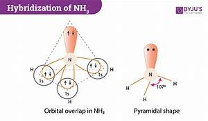 Hybridization Of Nh3  Ammonia   Hybridization Of Nitrogen In Nh3