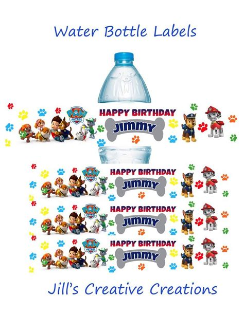 88 Best Water Bottle Labels Images On Water 88 Best Paw Patrol Ideas Images On Paw