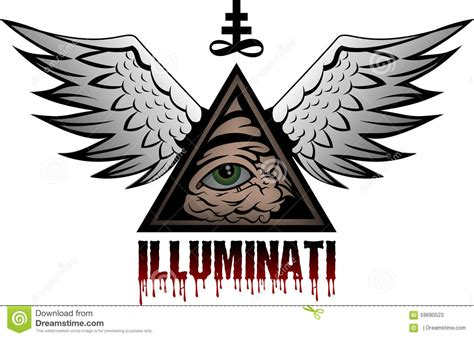 Illuminati Pyramid Eye Illuminati Stock Photo Image 59690523
