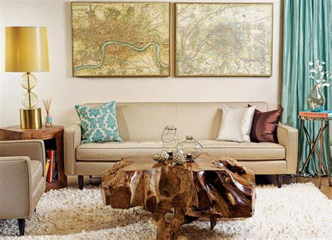 earthy modern eclectic living room houston  high