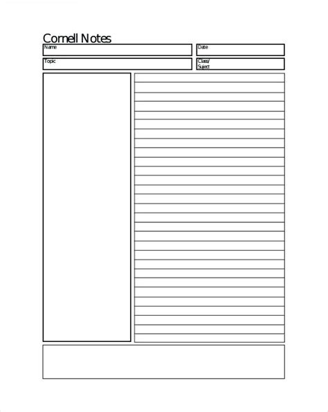 Cornell Notes Template Microsoft Word Mac by Cornell Method Note Taking Template Azserver Info