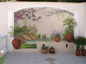 matin lumineux fresques interieures en trompe l39oeil With deco mur exterieur maison 7 decoration en trompe loeil en exterieur