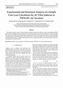 A Method For Inductor Core Loss Estimation In Power Factor