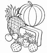Coloring Healthy Colouring Sheets Fruit Printable Dinner sketch template