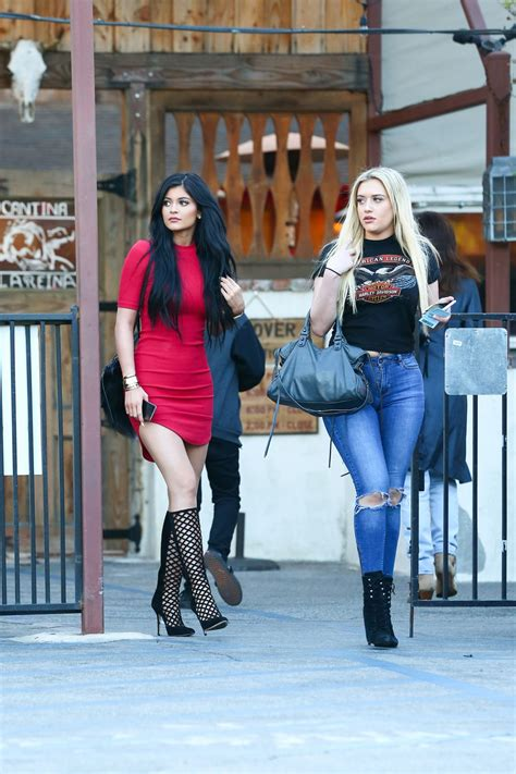 KYLIE JENNER in Tight Mini Dress Out in Calabasas – HawtCelebs