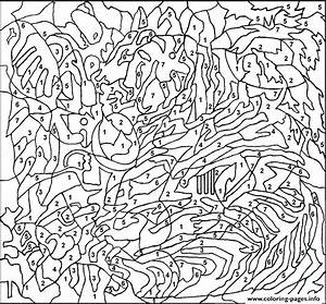 printable color by number pages for adults coloring pages With the high tones