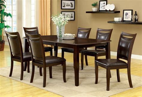 woodside contemporary dark cherry casual dining set