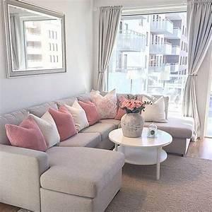 Salon Gris Et Rose : salon gris et rose inspiration d co d co maison deco ~ Melissatoandfro.com Idées de Décoration