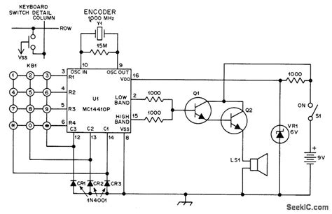 Touch Tone Drive For Loudspeaker Basic Circuit