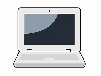 Laptop Computer Clipart Cartoon Clip Animated Notebook