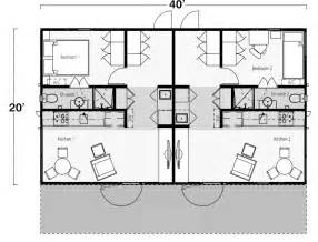 two bedroom two bath shipping container home floor plan shipping containers