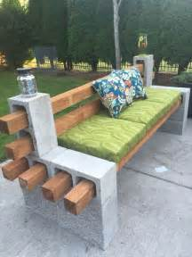 Timber Dining Table With Bench Seats by How To Make A Bench From Cinder Blocks 10 Amazing Ideas