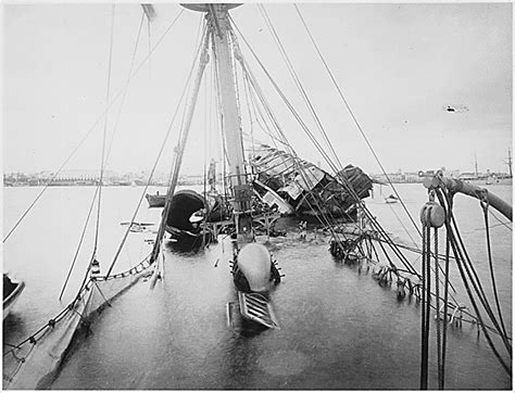 Pictures Of The Uss Maine Sinking by Deathternity What Cemetery Has The Mast Of The Uss Maine