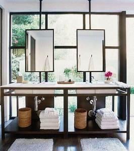 Miroir Rond Suspendu : miroir salle de bain le guide ultime pinterest miroirs suspendus salles de bain modernes ~ Teatrodelosmanantiales.com Idées de Décoration