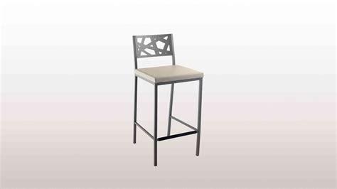 tabouret de bar design en bois inox pour cuisine et salon cuisinella