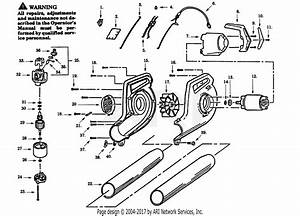 Poulan 5900 Electric Blower Parts Diagram For Blower Assembly