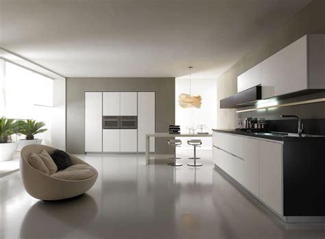 modern white contemporary  minimalist kitchen designs