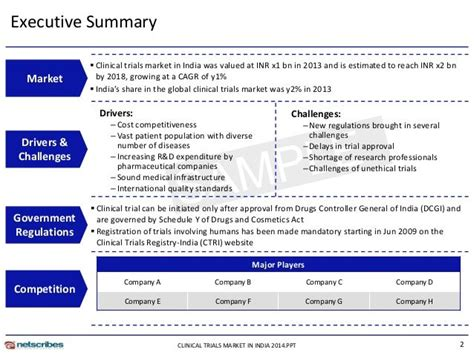 clinical trial summary template google search
