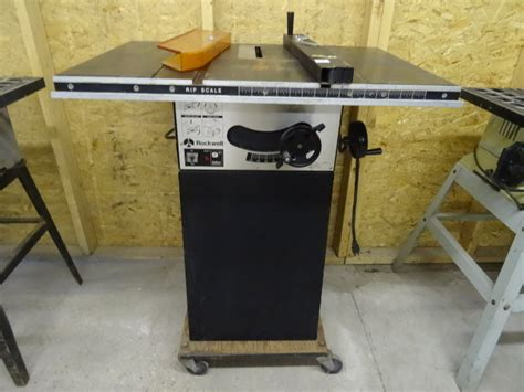 rockwell model 9 table saw k c auctions mpls contractor moving auction in