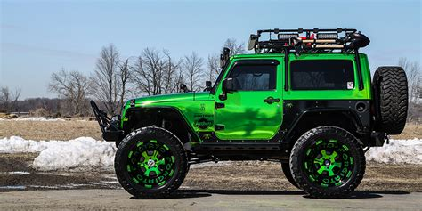 jeep green overland lime chrome jeep wrangler jk