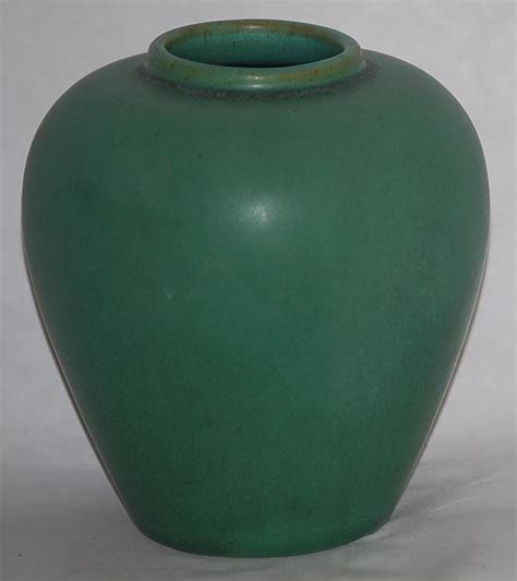 Green Vases For Sale by Teco Pottery Matte Green Vase For Sale Antiques