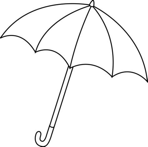 black  white umbrella lineart  clip art