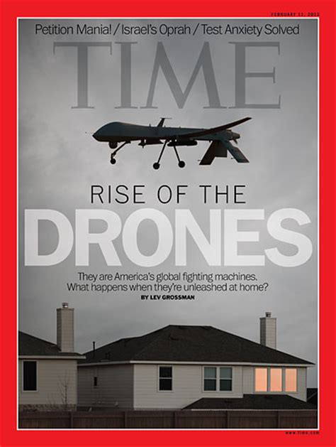 time magazine cover rise   drones feb