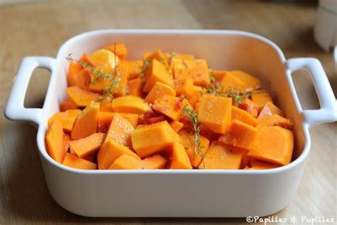cuisiner les courges courge butternut rôtie au four piment thym et cumin