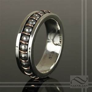 hand made steampunk ball bearing ring by earth art gem With bearing wedding ring