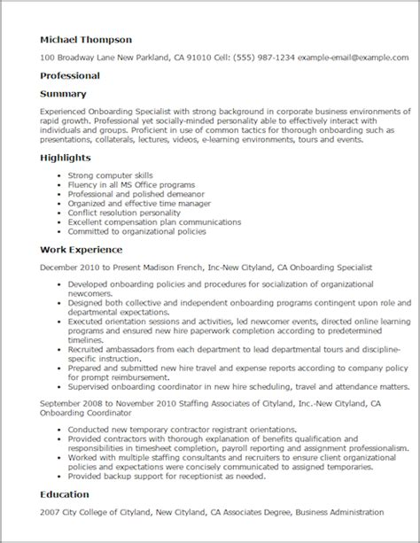 resume for human resources specialist save changes