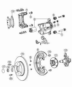 2016 Fiat 500 Pad Kit  Rear Disc Brake  Brakes  Abs  Whl