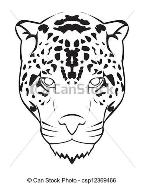 jaguar clipart clip arte vetor de onça pintada rosto csp12369466