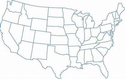 Map States United Outline California Transparent Maps