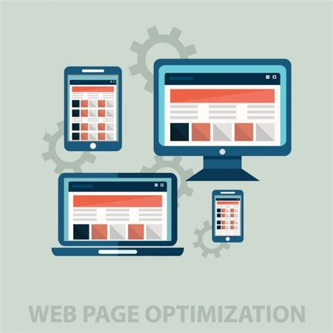 web optimisation web optimization vector free