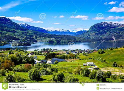 Beautiful Nature Norway Stock Photo Image 65083879